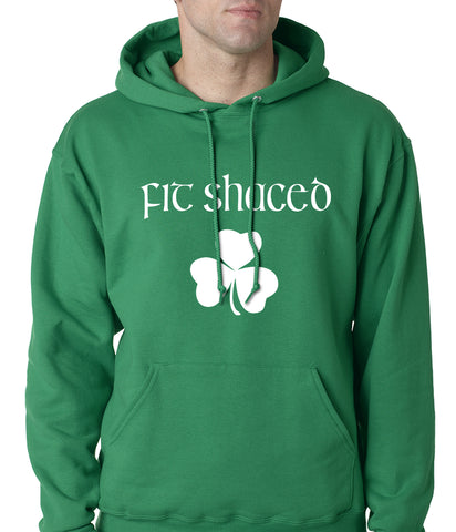 Fit Shaced (Shit Faced) St. Patricks Day Shamrock Drinking Adult Hoodie