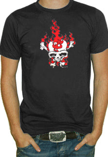 Flaming Skull Bones T-Shirt