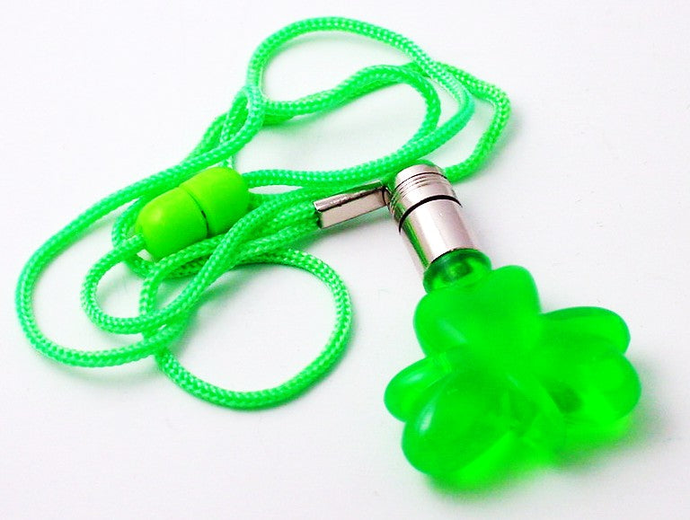 Flashing Led Shamrock Necklace