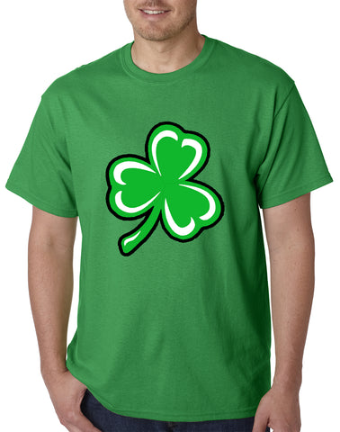 Flashing Light Up Shamrock Mens T-shirt (Irish Kelly Green)