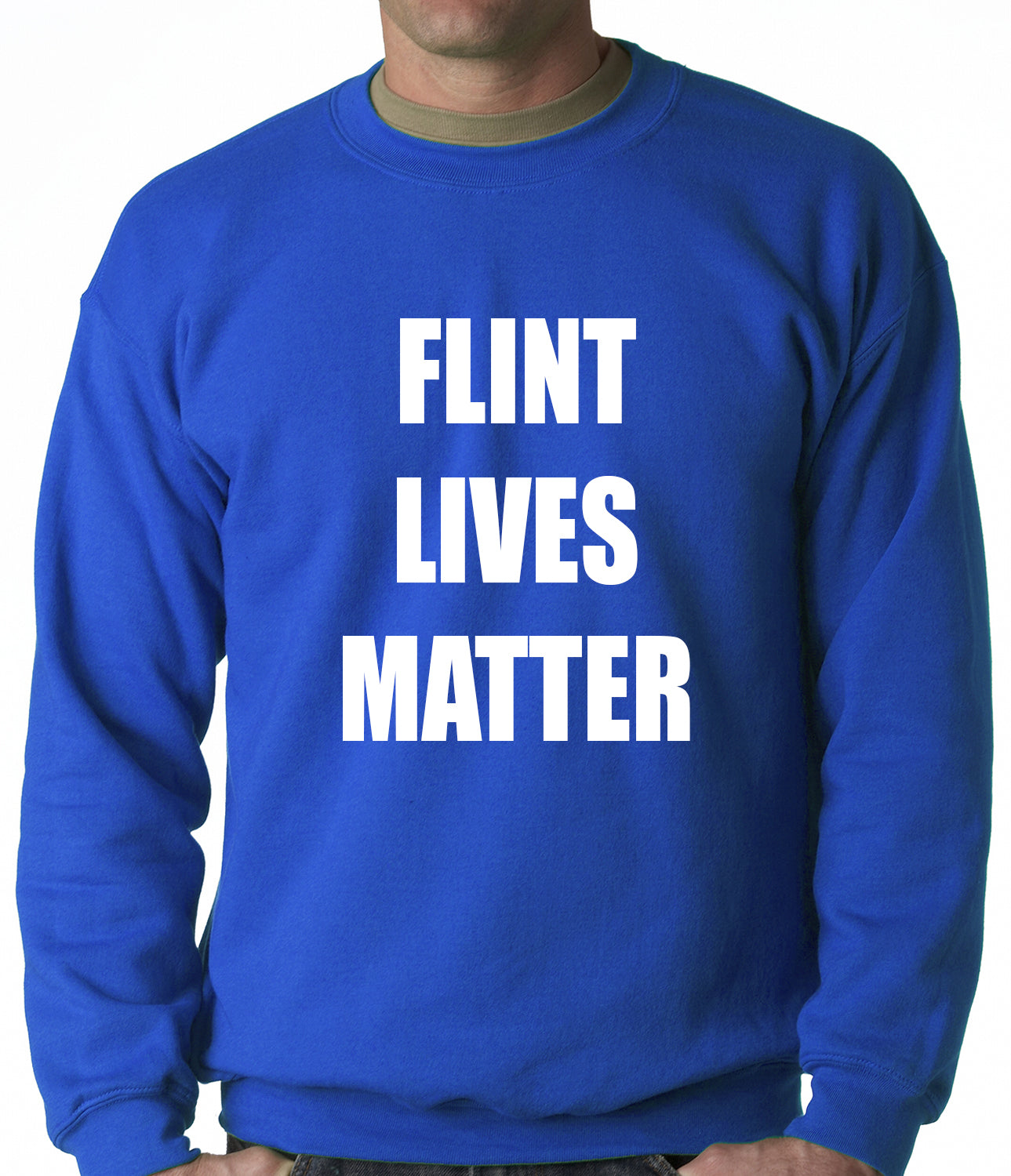 Flint Michigan Lives Matter Adult Crewneck