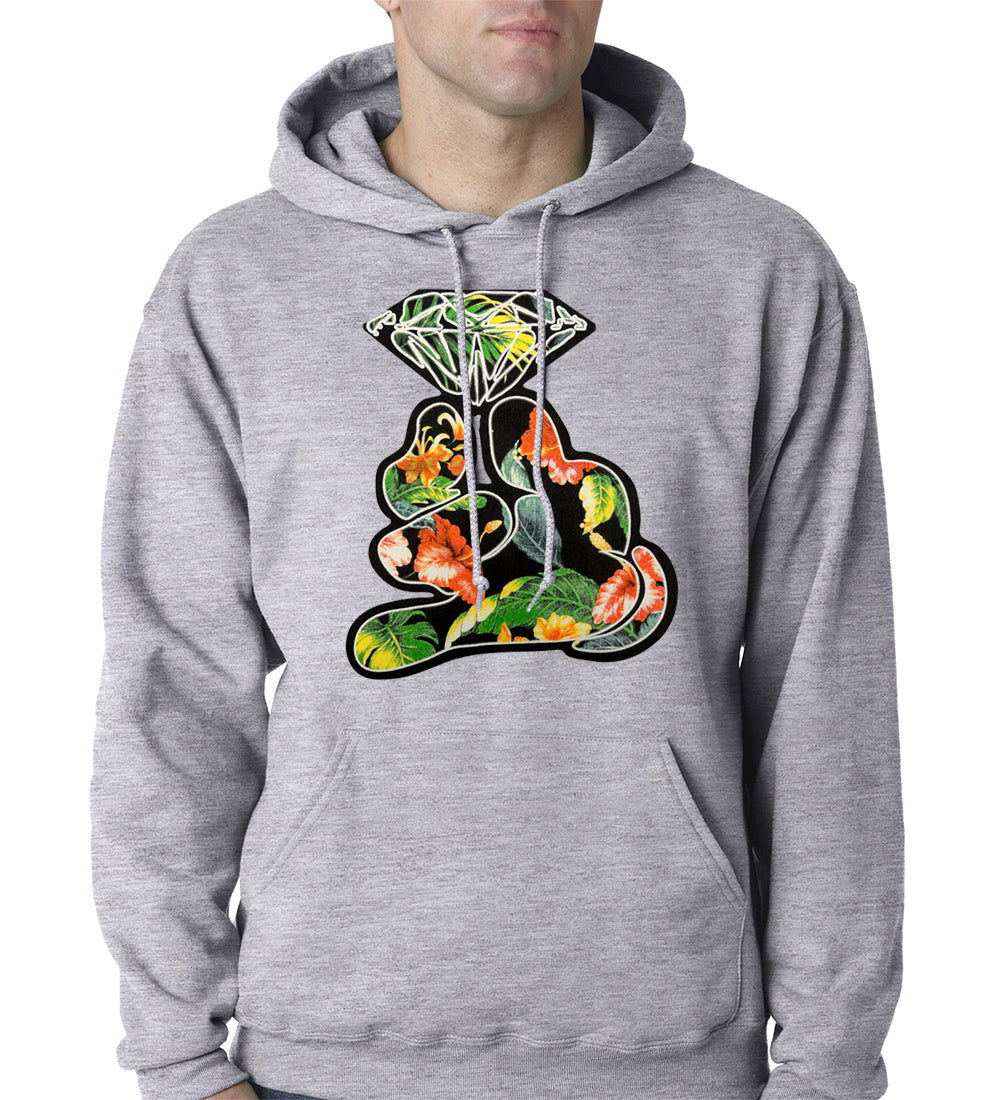Floral Cartoon Diamond Hand Adult Hoodie