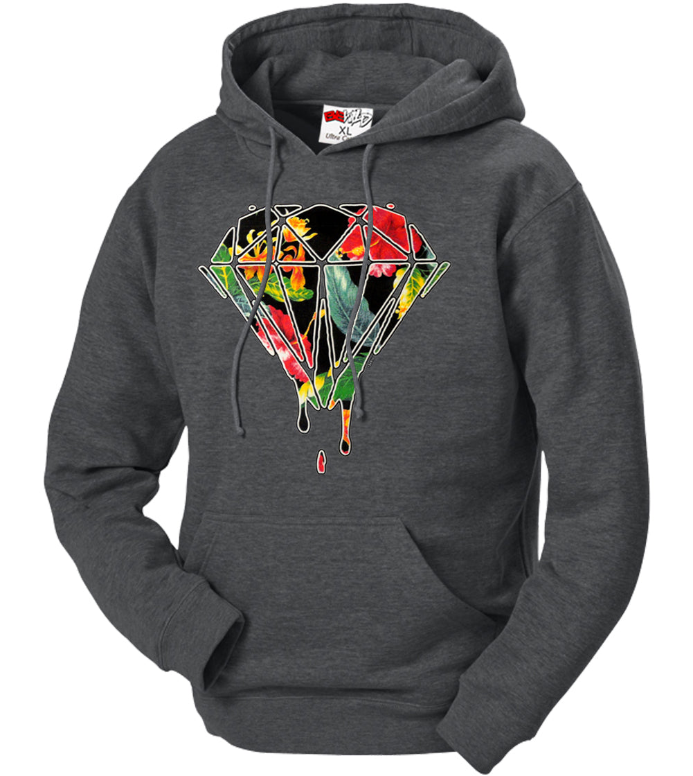 Floral Dripping Diamond Adult Hoodie