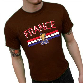 France Vintage Shield International Mens T-Shirt