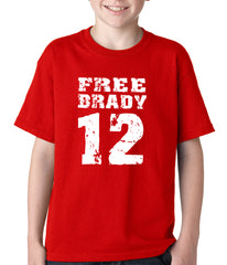 Free Brady #12 - Deflategate New England Football Kids T-shirt