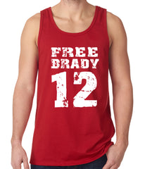 Free Brady #12 - Deflategate New England Football Tank Top