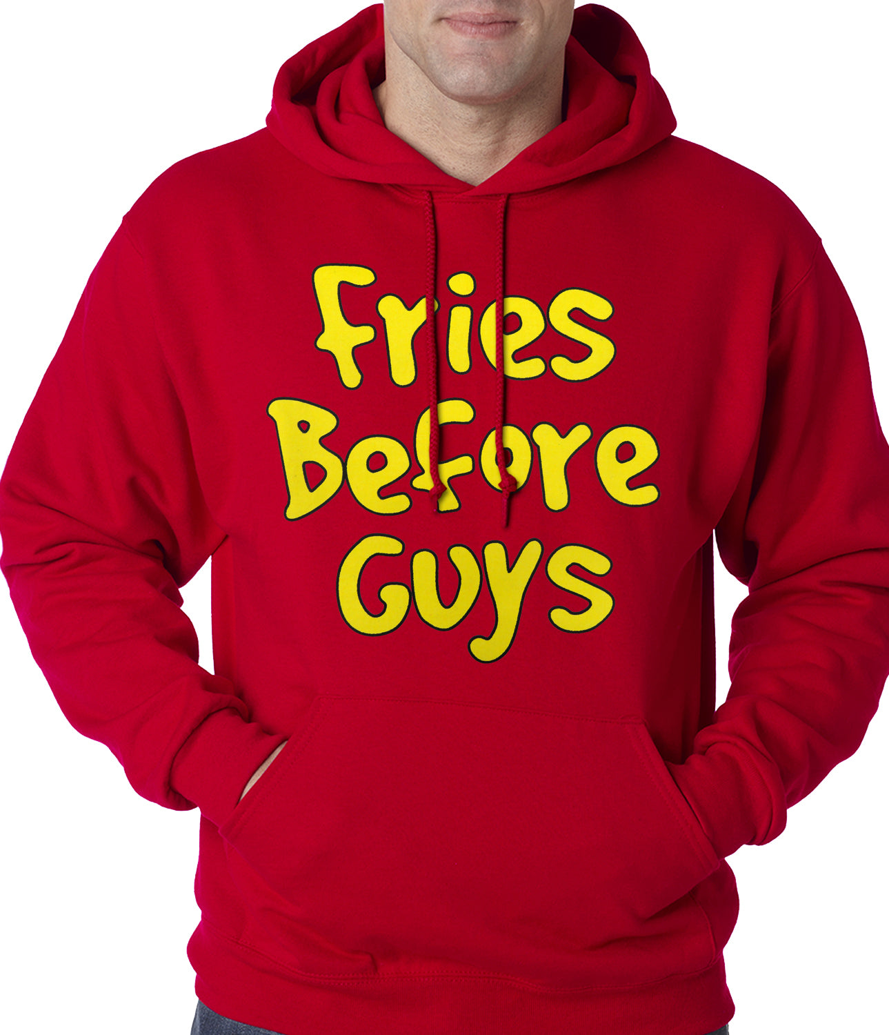 Fries Before Guys Adult Hoodie