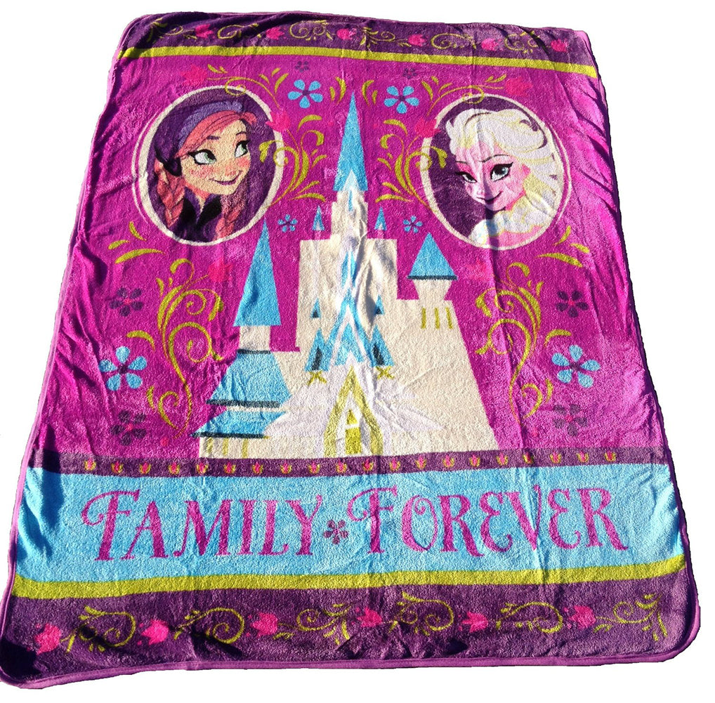 Frozen Famliy Forever Plush Raschel Throw Blanket
