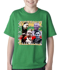 Full Color African American Heroes Kids T-shirt