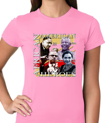 Full Color African American Heroes Ladies T-shirt