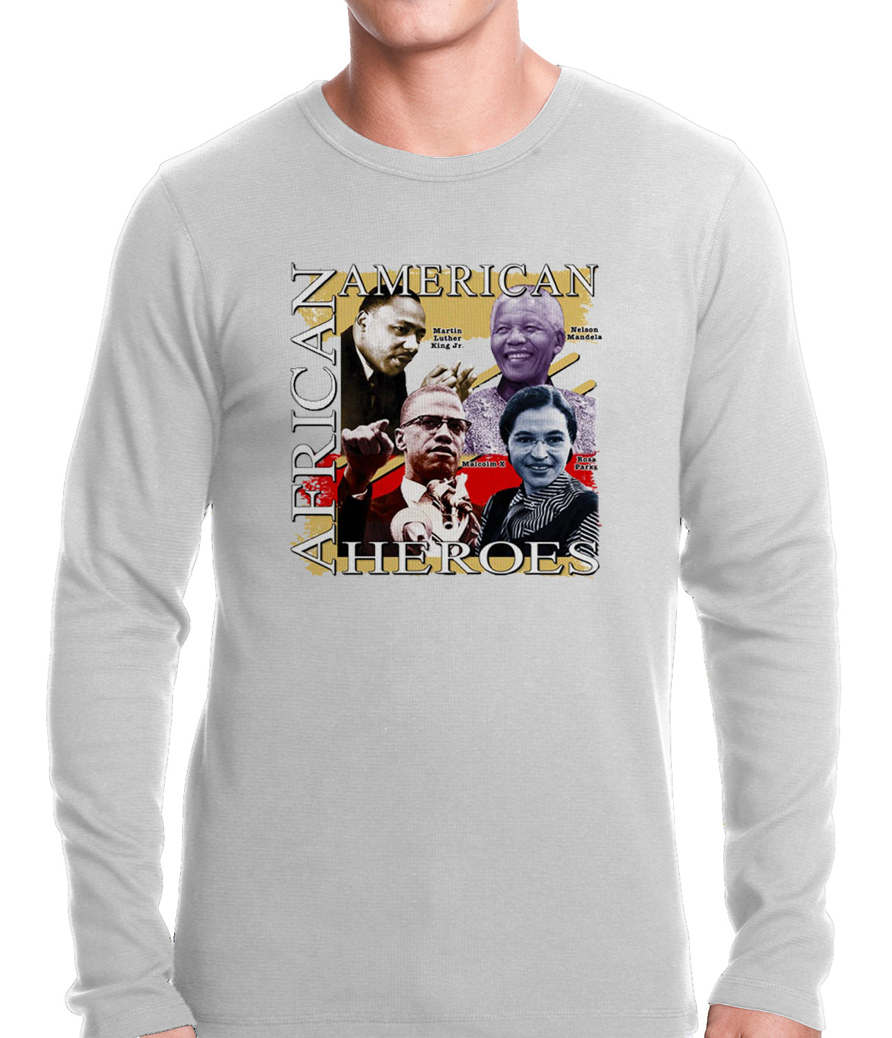 Full Color African American Heroes Thermal Shirt