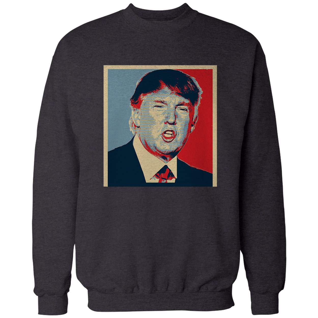 Full Color Trump Portrait Adult Crewneck