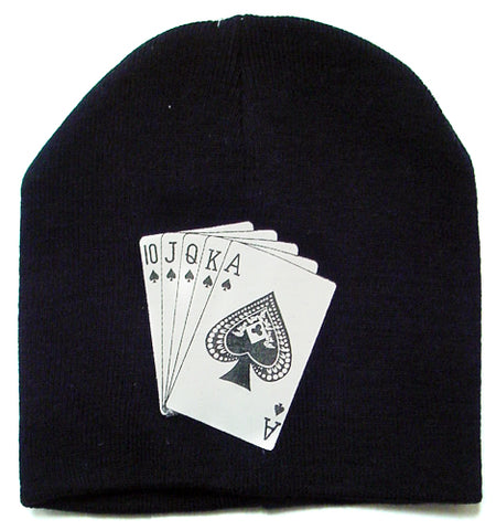 Full House Playing Card Print Beanie