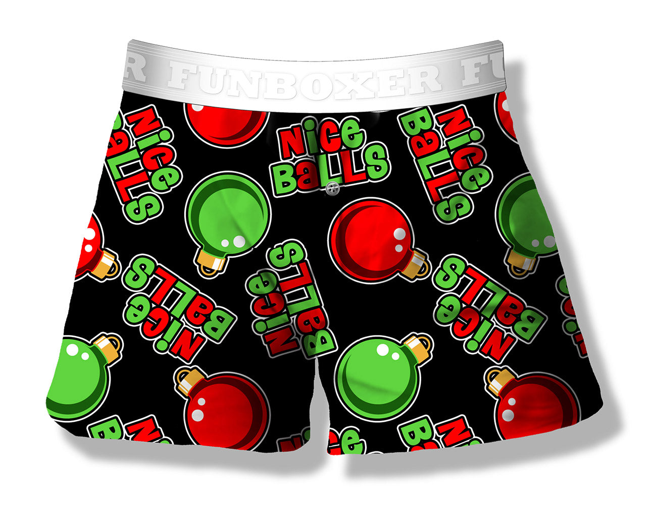 Fun Boxers - Nice Balls Funny Christmas Ornament Boxer Shorts