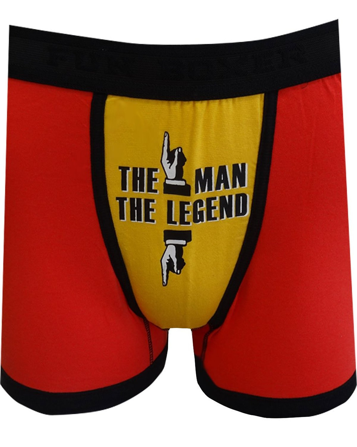 Fun Boxers - The Man The Legend Boxer Briefs (Red/Yellow)