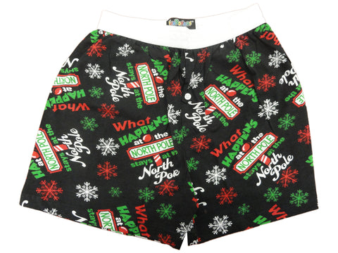 Fun Boxers - What Happens in the North Pole Stays in the North Pole Funny Boxer Shorts
