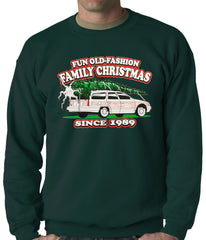 Fun Old-Fashioned Family Christmas Since 1989 Adult Crewneck