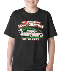 Fun Old-Fashioned Family Christmas Since 1989 Kids T-shirt