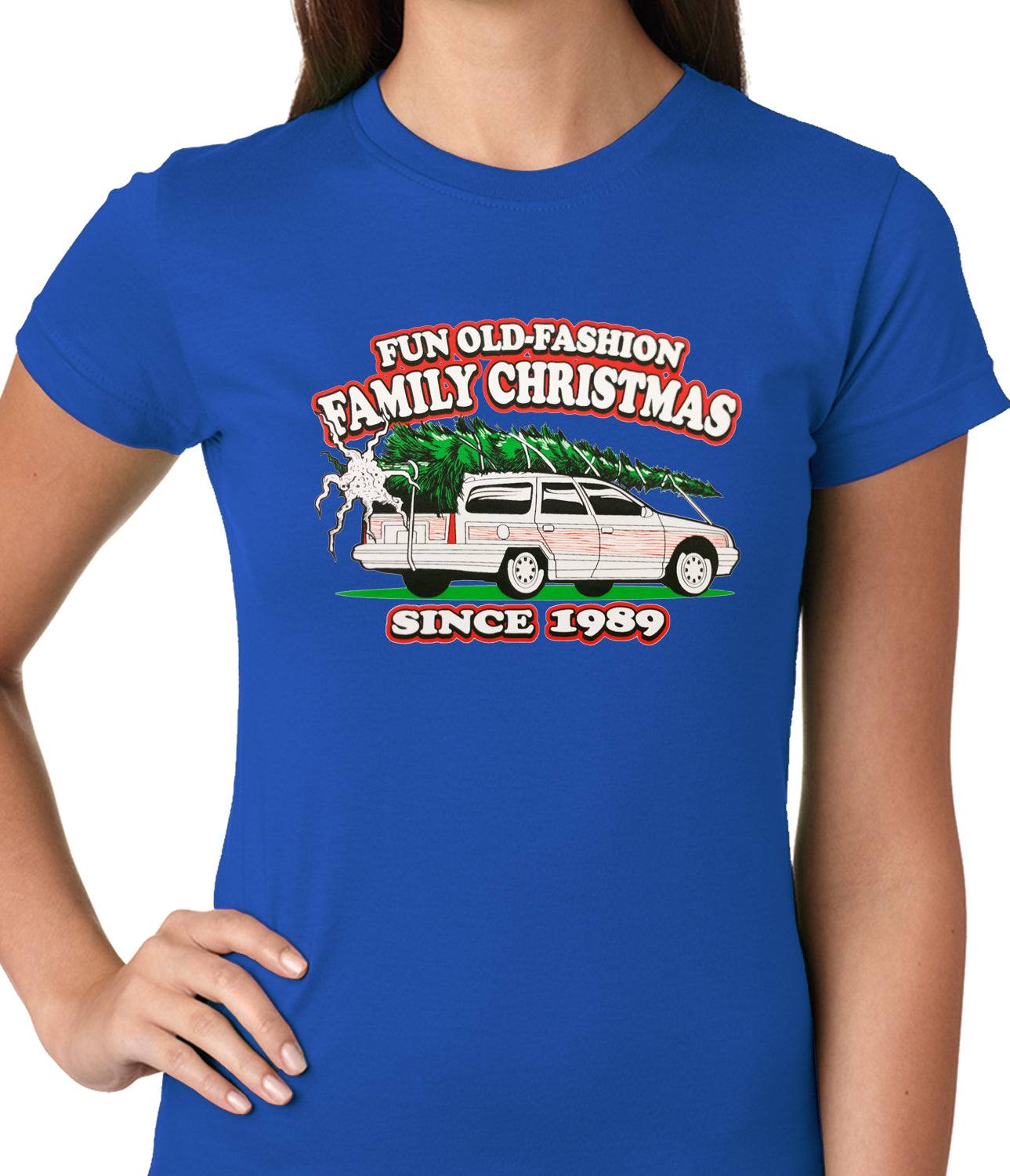Fun Old-Fashioned Family Christmas Since 1989 Ladies T-shirt