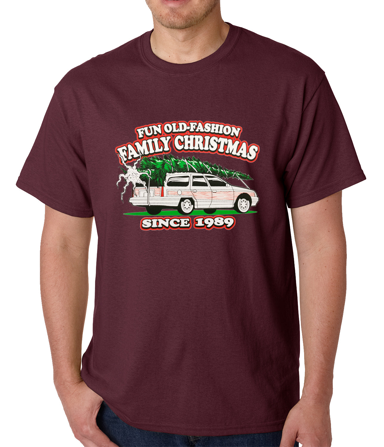 Fun Old-Fashioned Family Christmas Since 1989 Mens T-shirt