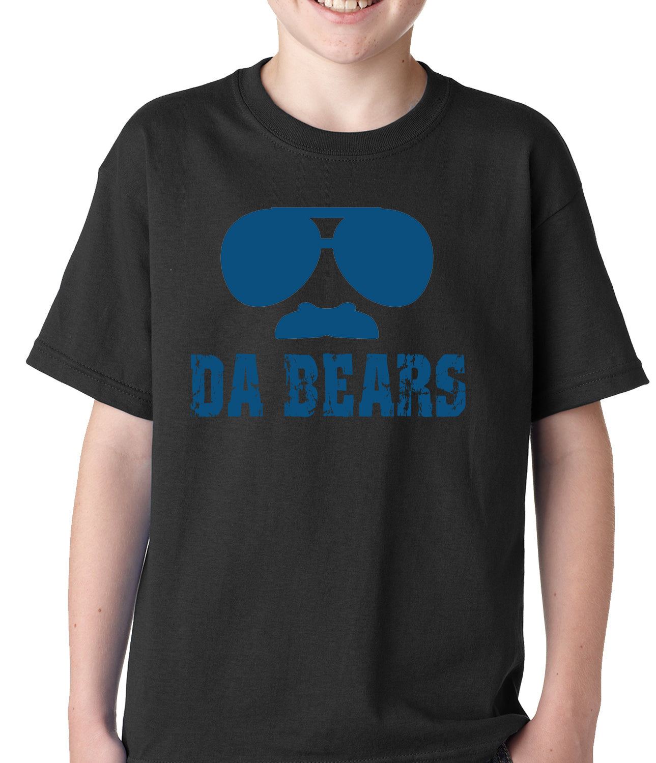 "Funny ""Da Bears"" Sunglasses & Mustache Kids T-shirt"
