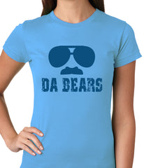 "Funny ""Da Bears"" Sunglasses & Mustache Ladies T-shirt"
