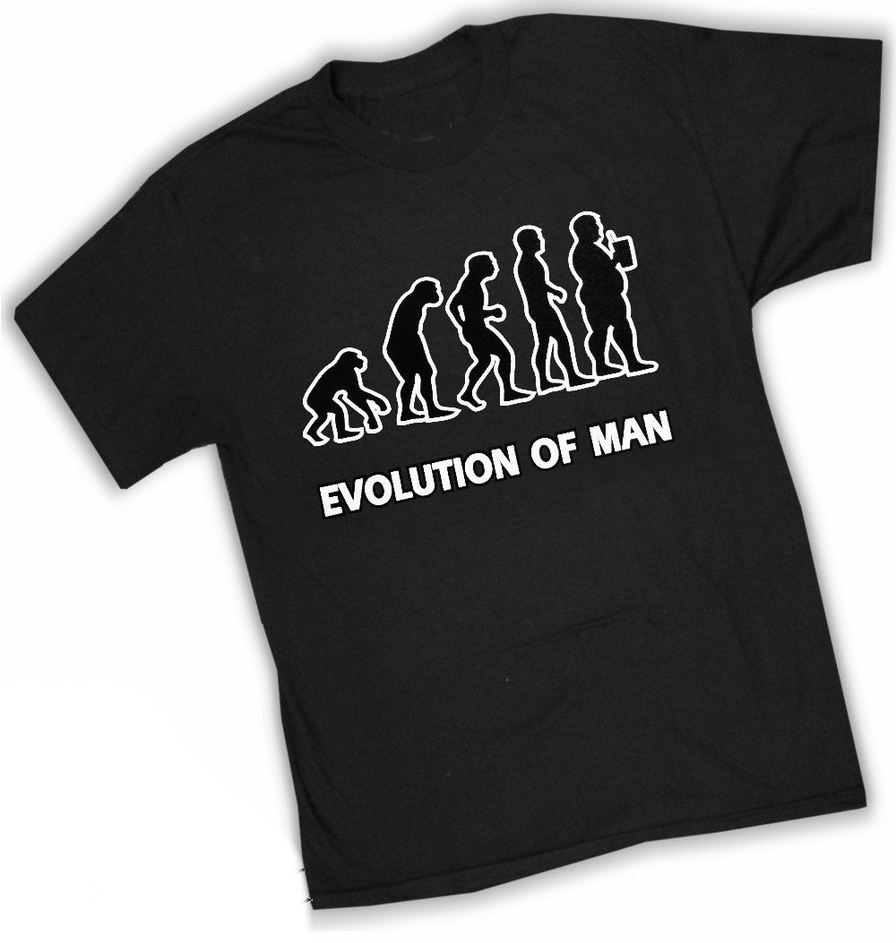 Funny Novelty Tees - Evolution of Man T-Shirt