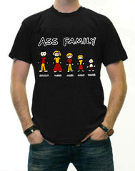Funny Novelty Tees - The Ass Family T-Shirt