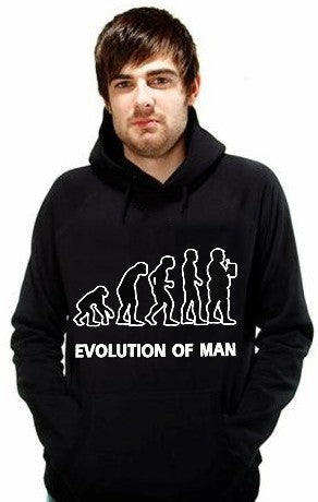 Funny NoveltySweatshirts - Evolution of Man Hoodie