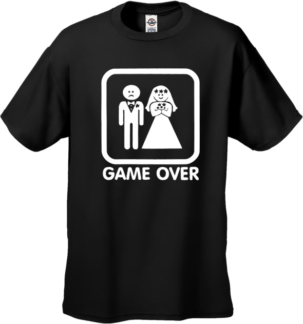 White Game Over Ladies Shirt - White Game Over Ladies Shirts