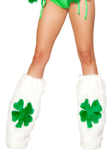 Furry Shamrock Leg Warmers
