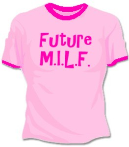 Future M.I.L.F. Girls T-Shirt (Pink)