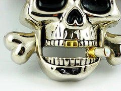 Gangsta Blunt Skull Buckle With FREE Leather Belt