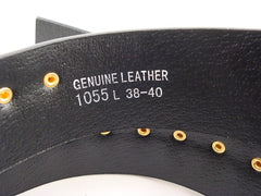 Genuine Leather Belt With Gold Bullets