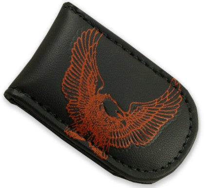 Genuine Leather Magnetic Money Clip (Eagle)