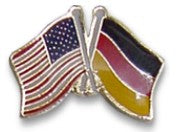 German American Lapel Pin