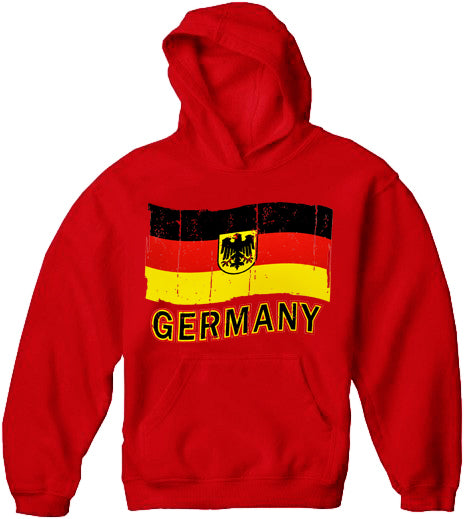 Germany Vintage Flag Adult Hoodie