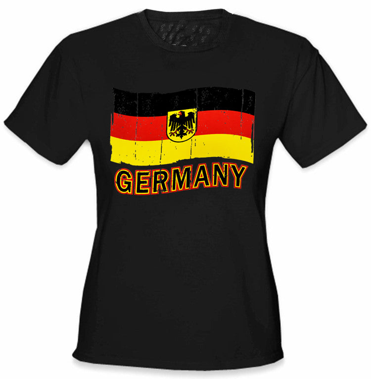 d2a3398b1 Germany Vintage Flag Girl s T-Shirt – Bewild