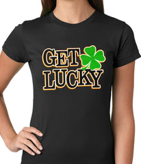 Get Lucky Irish Shamrock Girls T-shirt