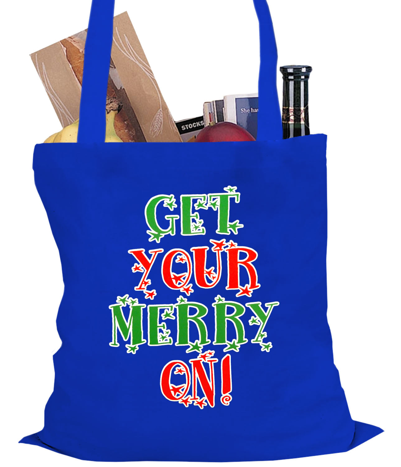 get your merry on christmas tote bag