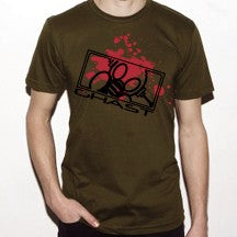Ghast Bloody Death Mask T-Shirt (Army Green)