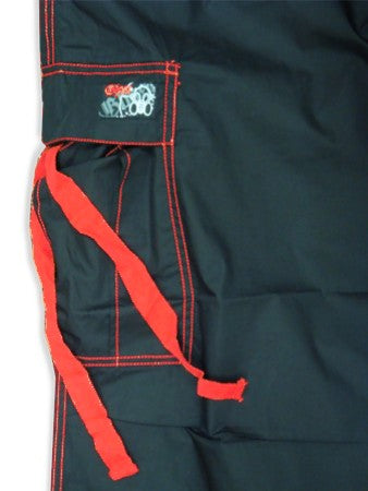 Ghast Cargo Drawstring Pants (Black / Red)
