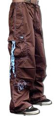 Ghast  Cargo Drawstring Pants (Brown/Lt. Blue)