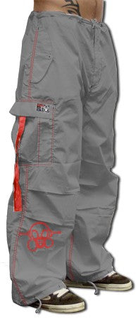 Ghast Cargo Drawstring Pants (Charcoal / Red)