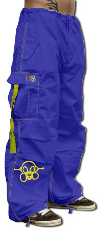 Ghast Cargo Drawstring Pants (Royal / Yellow)