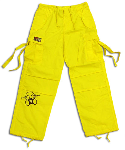 Ghast Cargo Drawstring Raver Pants (Yellow)