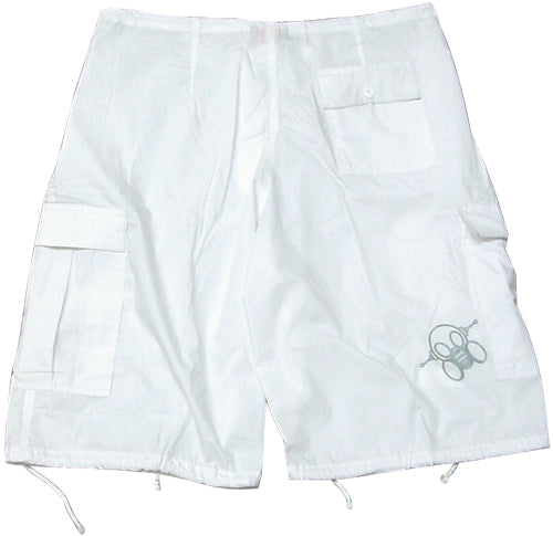 Ghast Cargo Shorts (White)