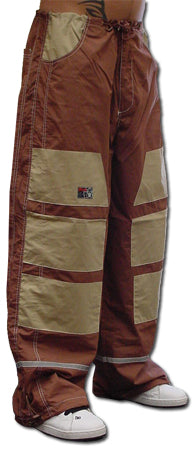 Ghast Hi-Tech Contrast Pants (Brown/Tan)