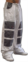 Ghast Hi-Tech Contrast Pants (White/Grey)