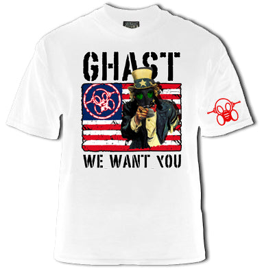 Ghast Uncle Ghast Wants You T-Shirt  (White)